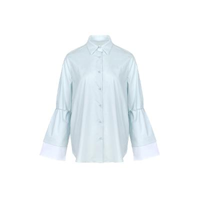 flare sleeve shirt skyblue2